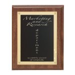 Walnut Finish Rosette Plaque Employee Awards