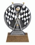 MX5 Line -Crossed Flags MXG5 Colorful Resin Trophy Awards