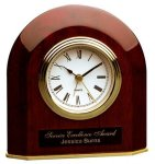 Piano Finish Rosewood Beveled Arch Clock Sales Awards
