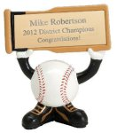 Ball Head Resin Figure -Baseball  Softball Trophy Awards